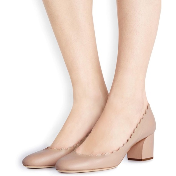 Chloe Shoes | Chloe Scalloped Block